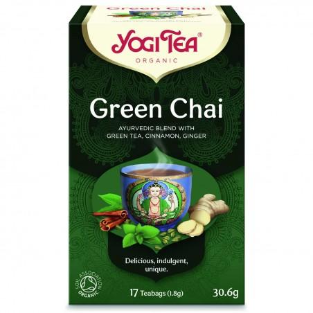 Žalioji prieskoninė arbata Green Chai, Yogi Tea, 17 pakelių