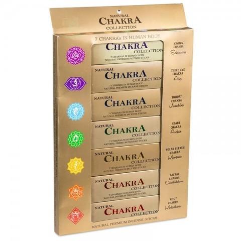 Čakrinių smilkalų lazdelių rinkinys 7 Chakra Collection, 15g