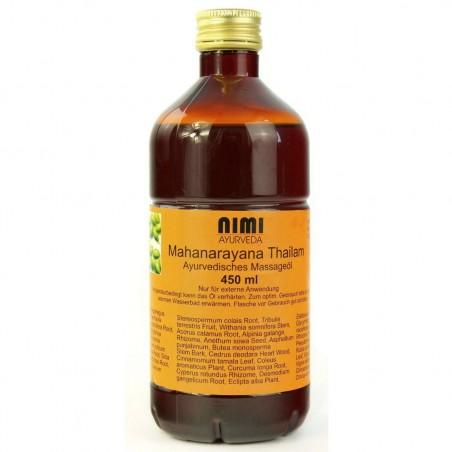 Atpalaiduojantis masažo aliejus sąnariams Mahanarayana Thailam, Nimi Ayurveda, 450 ml