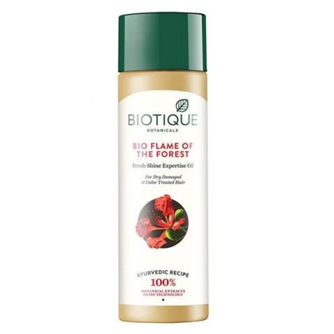 Stiprinantis plaukų aliejus su kinrože Flame Of The Forest, Biotique, 120 ml