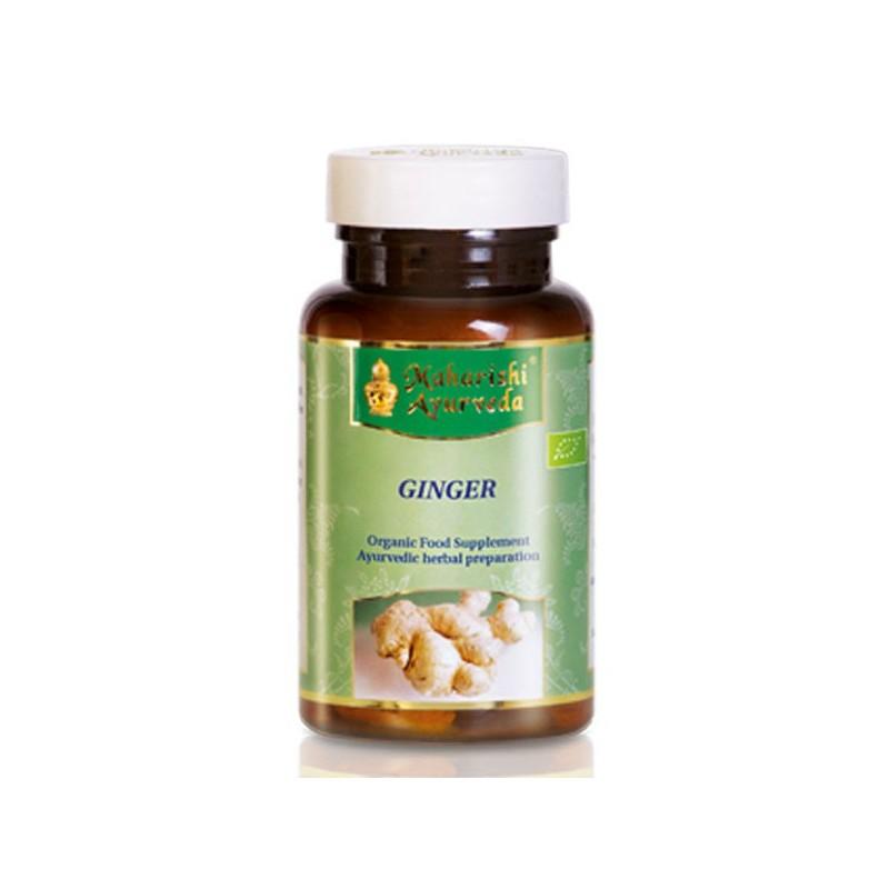 Ekologiškas maisto papildas Ingwer Ginger Bio, Maharishi Ayurveda, 60 kapsulių