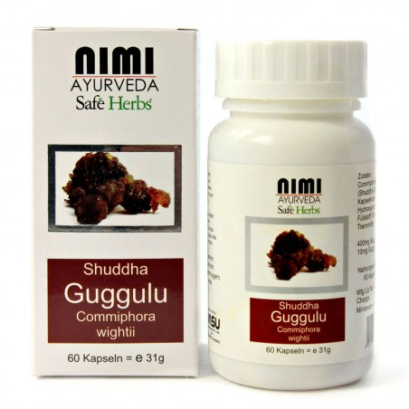 Maisto papildas Shudda Guggulu Extract, Nimi Ayurveda, 60 kapsulių