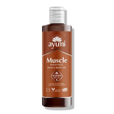 Kūno masažo aliejus raumenims Muscle, Ayumi, 250 ml