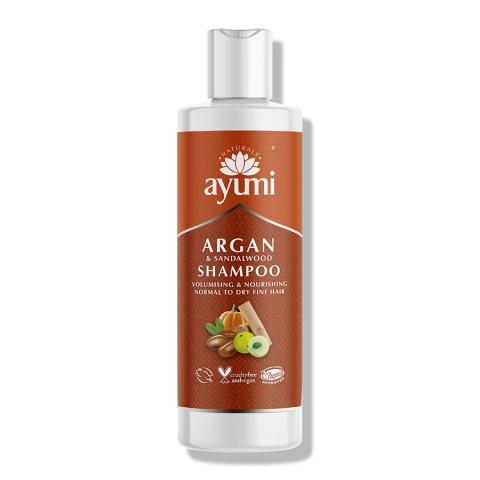 Maitinantis šampūnas plaukų apimčiai Argan & Sandalwood, Ayumi, 250 ml