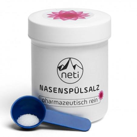 Nosies valymo procedūrai Neti Pot skirta valyta druska, 70 g