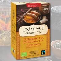 Trijų šaknų natūrali ciberžolės Numi Tea arbata, 12 pakelių