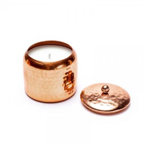 Ajurvedinis 3 žvakių rinkinys indelyje su dangteliu Veda