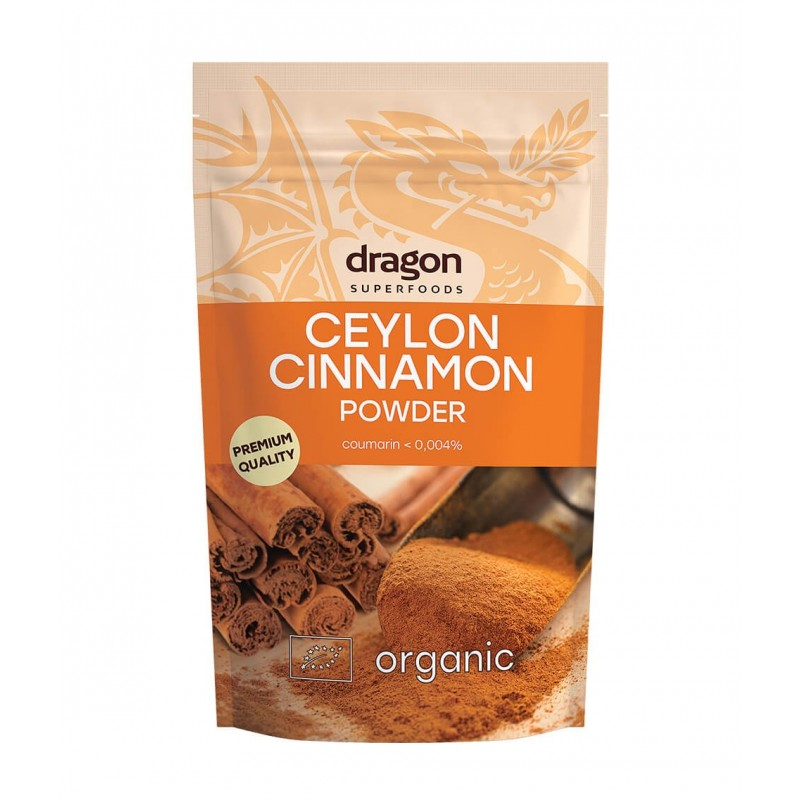 Maltas Ceylono cinamonas, ekologiškas, Dragon Superfoods, 150g