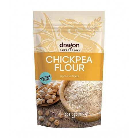 Avinžirnių miltai, ekologiški, Dragon Superfoods, 200g