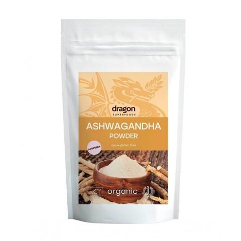 Ashwagandha milteliai, ekologiški, Dragon Superfoods, 200g