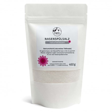 Nosies valymo procedūrai Neti Pot skirta valyta druska Nature, 450 g