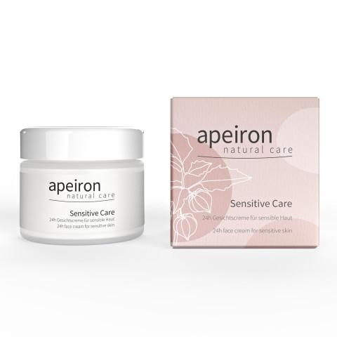 Veido kremas jautrios odos priežiūrai Sensitive Care, Apeiron, 50 ml