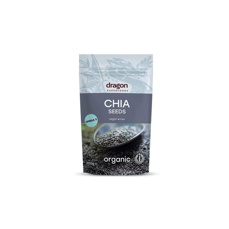 Ispaninio šalavijo (Chia) sėklos, ekologiškos, Dragon Superfoods, 200g