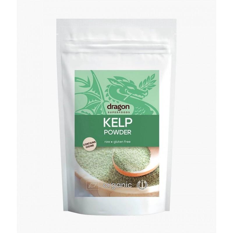 Rudųjų jūrų dumblių milteliai Kelp, ekologiški, Dragon Superfoods, 100g