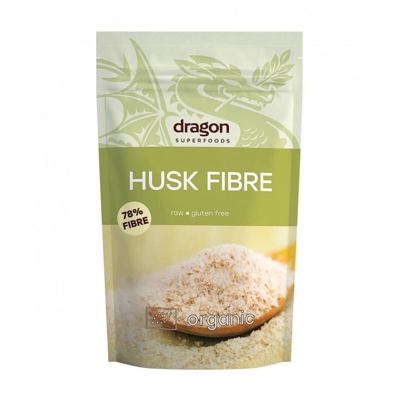 Balkšvojo gysločio sėklų luobelės Psyllium Husk, ekologiškos, Dragon Superfoods, 150g