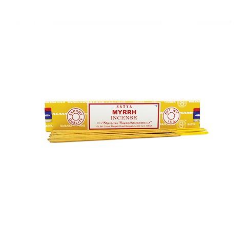 Smilkalų lazdelės Myrrh, Satya,15 g