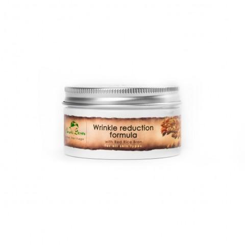 Veido kremas nuo raukšlių su raudonųjų ryžių sėlenomis Wrinkle Reduction, Natures Secrets, 100ml