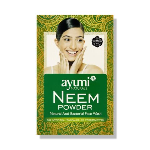Nimbamedžio lapų milteliai Neem, 100% laukiniai, Ayumi, 100g