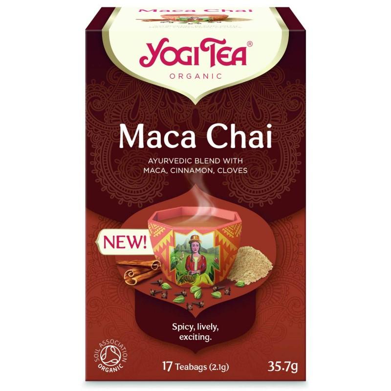 Prieskoninė arbata su peruvine pipirine Maca, Yogi Tea, 17 pakelių