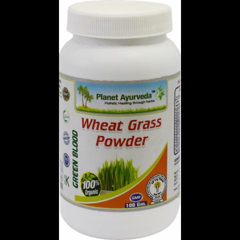 Kviečių želmenų milteliai Wheat Grass, Planet Ayurveda, 100g