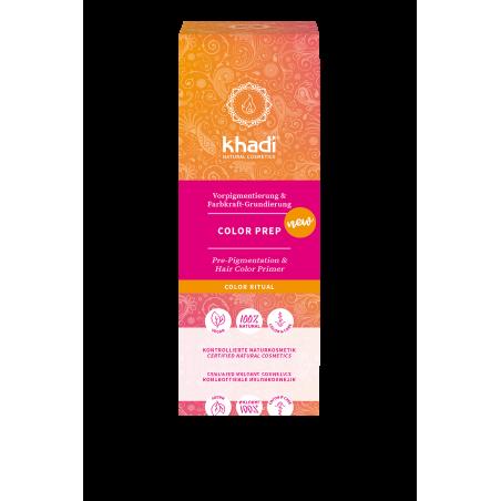 Augaliniai bespalviai paruošiamieji plaukų dažai Color Prep, Khadi Naturprodukte, 100g
