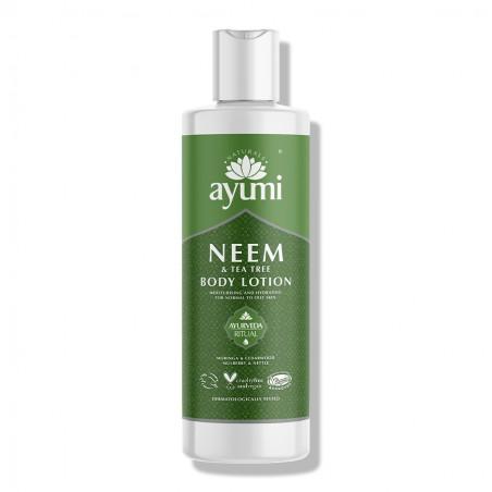 Kūno losjonas su nimbamedžiu Neem & Tea Tree, Ayumi, 250 ml