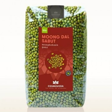 Žaliosios spindulinės pupuolės Moong (mung), Cosmoveda, ekologiška, 500 g