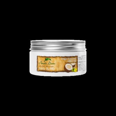 Kūno sviestas Virgin Coconut & Lime, Natures Secrets, 200ml
