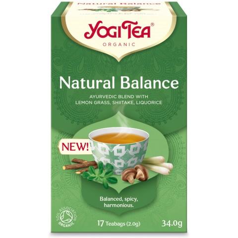 Prieskoninė balansuojanti arbata Natural Balance, Yogi Tea, ekologiška, 17 pakelių