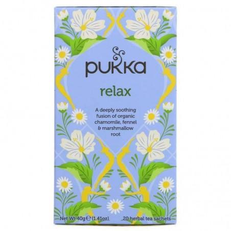 Raminanti arbata Relax, ekologiška, Pukka, 20 pakelių