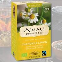Ramūnėlių arbata su citrina Numi Tea, ekologiška, 18 pakelių