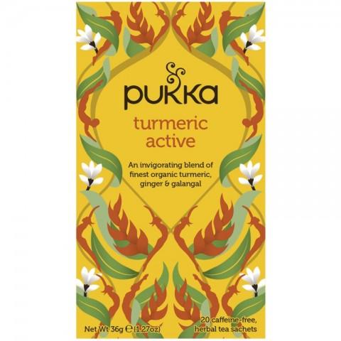 Stimuliuojanti arbata Turmeric Active, ekologiška, Pukka, 20 pakelių