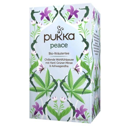 Atpalaiduojanti arbata Peace, ekologiška, Pukka, 20 pakelių