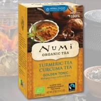 """Ciberžolės arbata """"Auksinis tonikas"""" Numi Tea, ekologiška, 12 pakelių"""