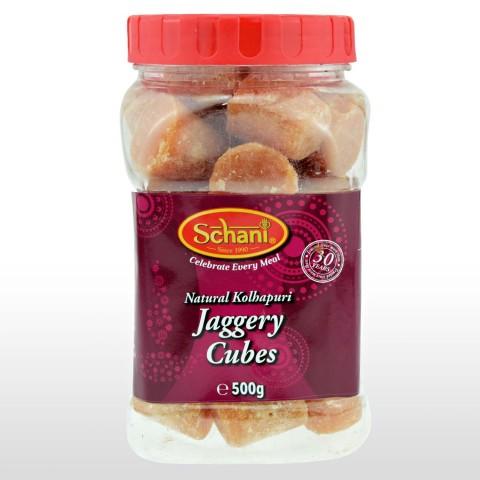 Nerafinuotas cukranendrių cukrus kubeliais Jaggery Cubes, Schani, 500 g
