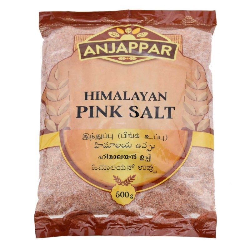Rožinė Himalajų druska, Anjappar, 500 g