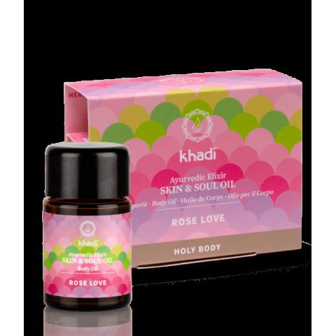 Kūno ir veido odos aliejus Rose Love Beauty Elixir, Khadi, 10ml