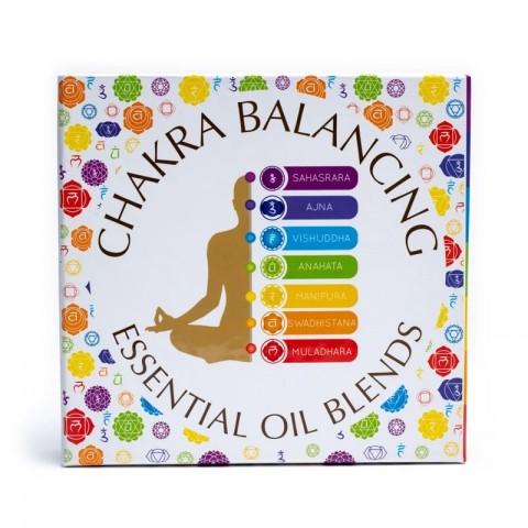 Eterinių aliejų rinkinys Chakra Balancing, Aromafume, 7x10ml