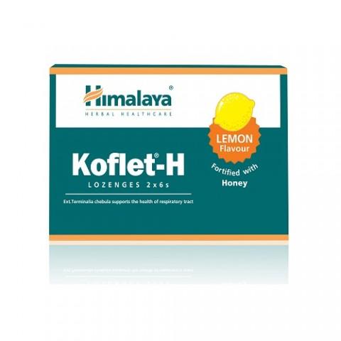 Citrinų skonio pastilės gerklei Koflet-H, Himalaya, 12vnt.