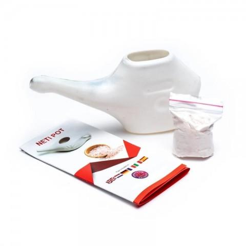 Plastikinis indas nosies valymui-plovimui Neti Pot, 150ml