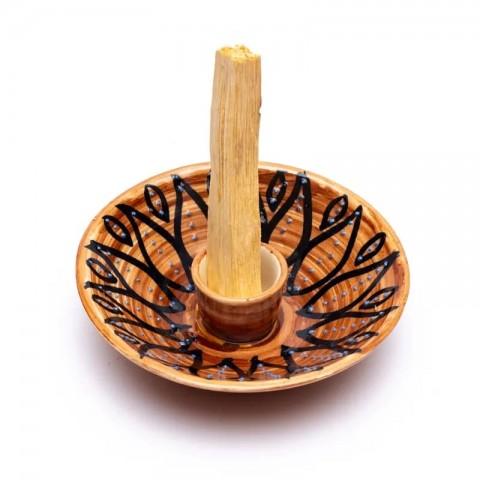 Laikiklis Palo Santo medžio lazdelėms smilkyti, rudas