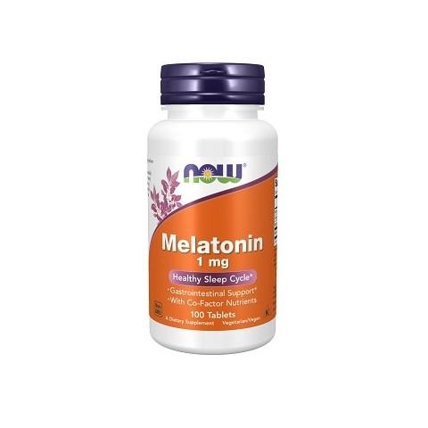 Maisto papildas Melatonin Complex 1mg, Now, 100 tablečių