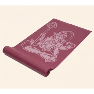 Jogos kilimėlis su dievo Šiva (Shiva) atvaizdu, tamsiai raudonas
