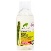 Burnos skalavimo skystis su arbatmedžių aliejumi, Dr. Organic, 500 ml