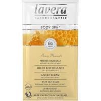 Vonios druska su pienu ir medumi Lavera, 80 g